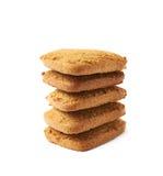 Acción de las galletas del pan de jengibre aisladas Fotos de archivo