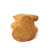 Acción de las galletas del pan de jengibre aisladas Imagen de archivo libre de regalías