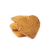 Acción de las galletas del pan de jengibre aisladas Imagen de archivo