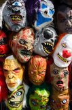 Acción de las máscaras para Halloween Fotos de archivo libres de regalías