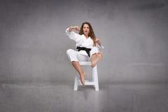 Acción de los artes marciales Fotos de archivo