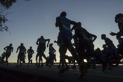 Acción de los corredores de maratón Fotografía de archivo libre de regalías