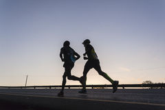 Acción de los corredores de maratón Fotografía de archivo