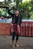 Acción de los huérfanos de un cacao, de un café y de una plantación de la especia en el pueblo de Kalibaru en Java Indonesia del  Fotos de archivo libres de regalías