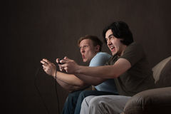 Acción de los juegos video Imagenes de archivo