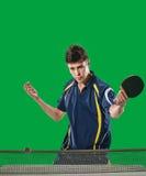 Acción de los tenis de mesa Imagen de archivo libre de regalías