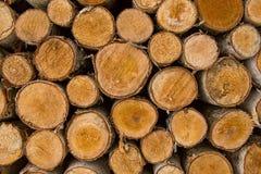 Acción de madera del fuego para el invierno Imagenes de archivo