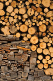 Acción de madera del fuego para el invierno Imagen de archivo libre de regalías