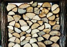 Acción de madera del fuego para el invierno Imagen de archivo
