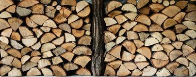 Acción de madera del fuego para el invierno Fotografía de archivo libre de regalías