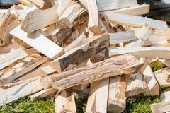 Acción de madera del material de construcción de la madera en almacén Foto de archivo libre de regalías