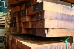 Acción de madera de la fábrica Fotografía de archivo libre de regalías
