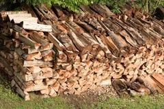 Acción de madera para el fuego Imágenes de archivo libres de regalías