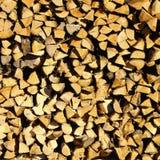 Acción de madera para el invierno Imagen de archivo libre de regalías