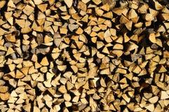 Acción de madera para el invierno Foto de archivo libre de regalías