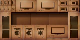 Acción de papel de las cajas de cartón electrónica Fotos de archivo