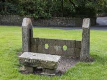 Acción de piedra en Rivington en Lancashire, Inglaterra Foto de archivo