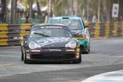 Acción de Porsche 996 en la serie estupenda de Tailandia Imagenes de archivo