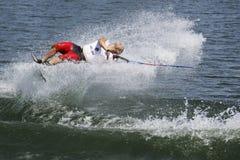 Acción de Shortboard de los hombres - Jimmy Siemers Foto de archivo libre de regalías