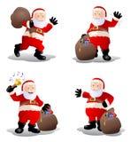 Acción de viejo Papá Noel Imágenes de archivo libres de regalías