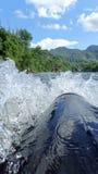 Acción del agua en la balsa 2 Foto de archivo