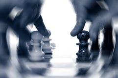 Acción del ajedrez Imágenes de archivo libres de regalías