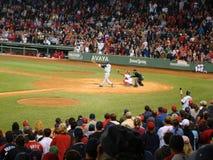 Acción del béisbol Imágenes de archivo libres de regalías