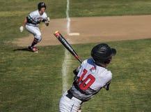 Acción del béisbol Fotos de archivo