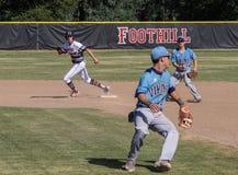 Acción del béisbol Imagenes de archivo