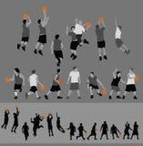 Acción del baloncesto Fotos de archivo libres de regalías
