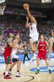 Acción del baloncesto Fotografía de archivo