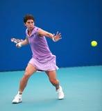 Acción del campo de tenis Imagen de archivo