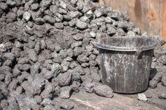 Acción del carbón y shoval Foto de archivo