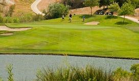 Acción del club de golf Imágenes de archivo libres de regalías