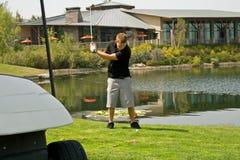 Acción del club de golf Fotografía de archivo