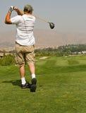 Acción del club de golf Fotografía de archivo libre de regalías