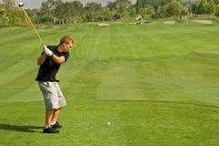 Acción del club de golf Imagenes de archivo