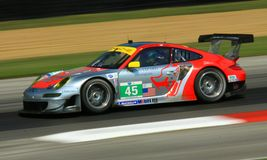 Acción del coche de carreras Fotografía de archivo
