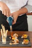 Acción del cocinero Imagen de archivo libre de regalías