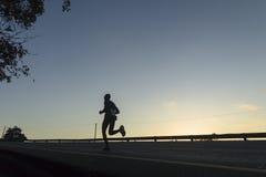 Acción del corredor de maratón Imagen de archivo libre de regalías