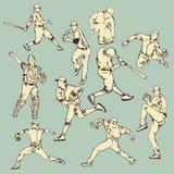 Acción del deporte del béisbol Foto de archivo libre de regalías