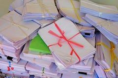 Acción del documento de papel Imágenes de archivo libres de regalías