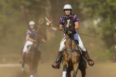 Acción del Equestrian del mundial de PoloCrosse Imágenes de archivo libres de regalías