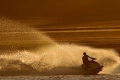 Acción del esquí del jet Fotografía de archivo