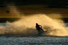 Acción del esquí del jet Fotografía de archivo libre de regalías