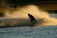 Acción del esquí del jet Imagenes de archivo