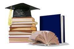 Acción del estudiante, el libro en un fondo blanco libre illustration
