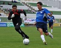 Acción del fútbol Fotografía de archivo
