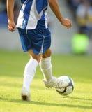 Acción del fútbol Foto de archivo