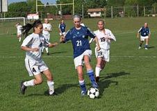 Acción del fútbol Imagen de archivo